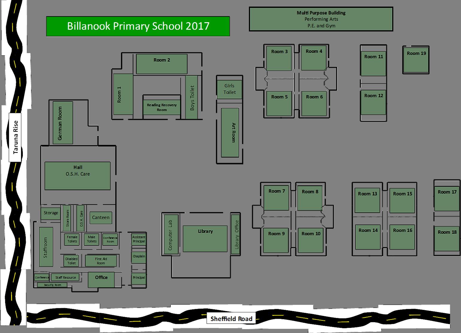 School map billanook primary school